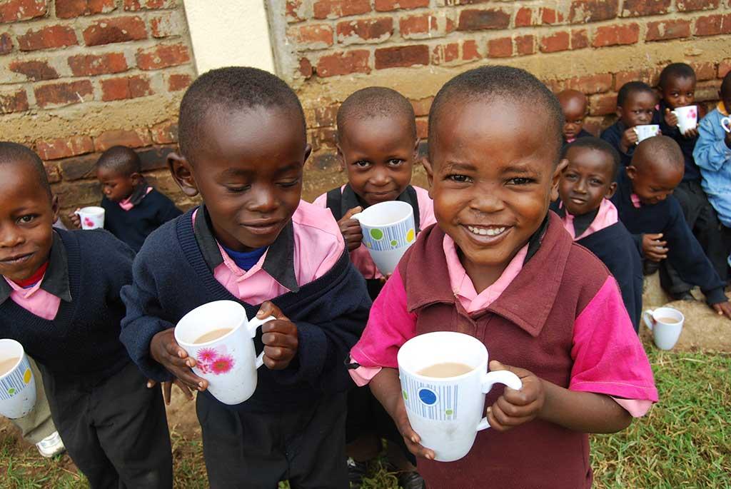 Drinking tea in Tanzania