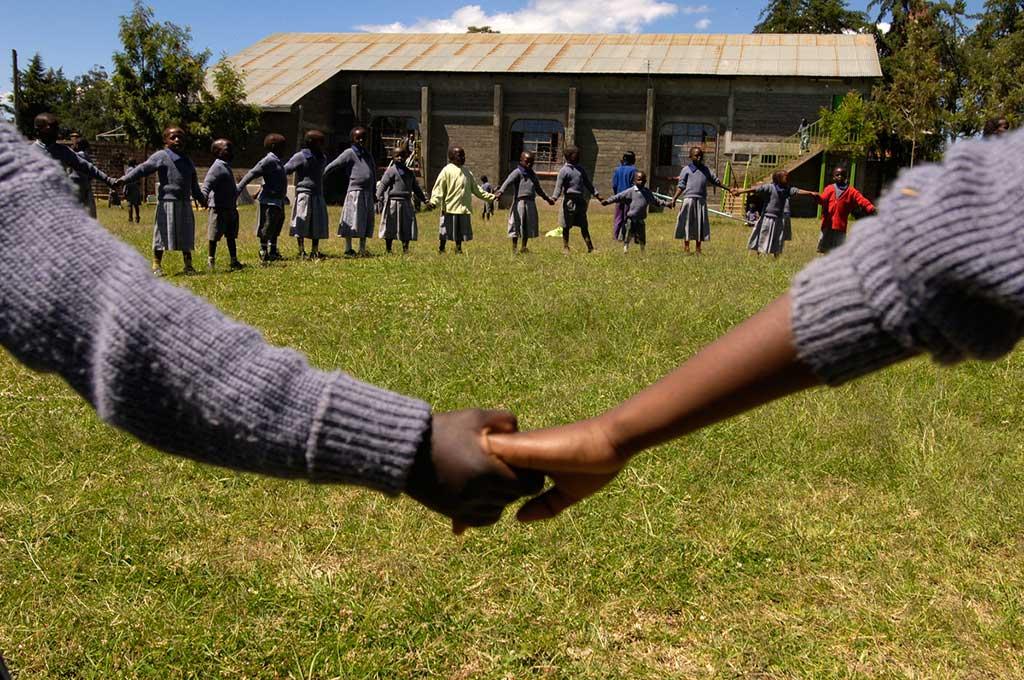Holding hands in Kenya
