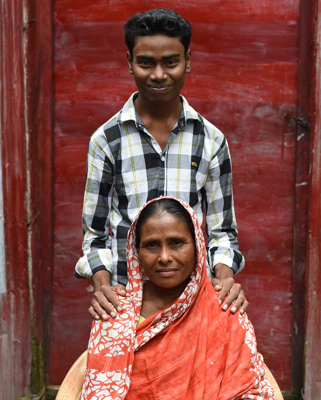 Mother and son in Bangladesh