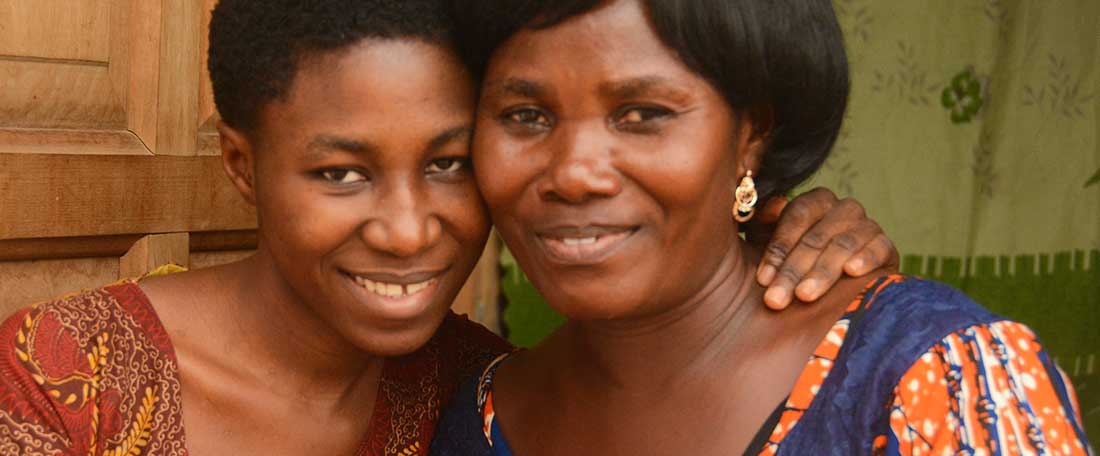 Mother and daughter in Ghana