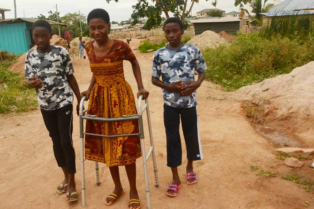 Walking in Ghana