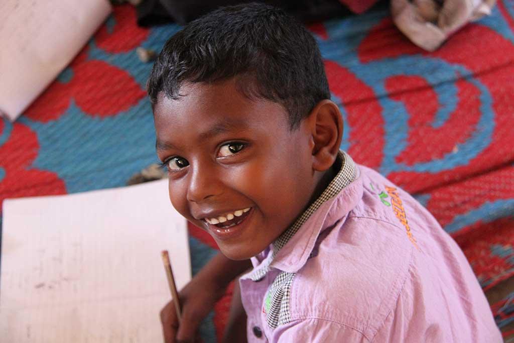 Smiling boy from Sri Lanka