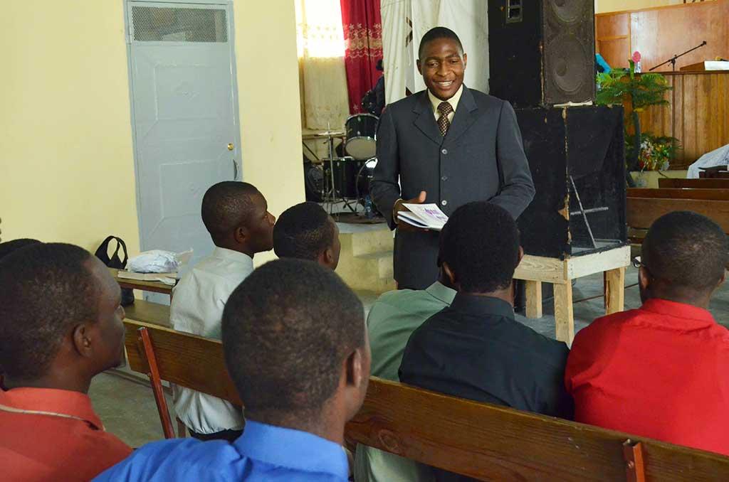Training teachers in Haiti