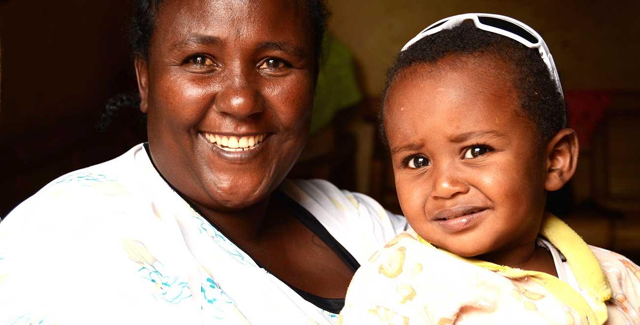 Mum and son in Ethiopia