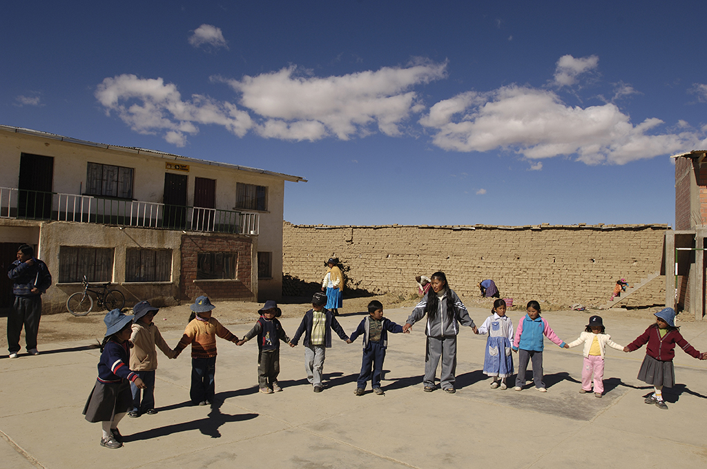 Children playing in Bolivia