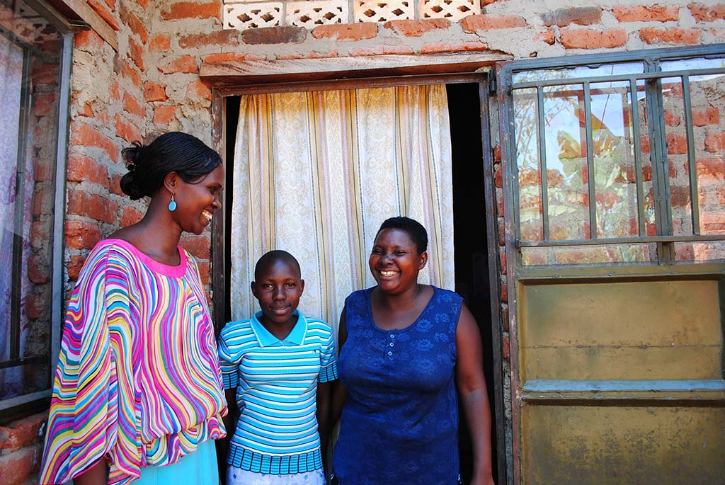 Home visit in Uganda